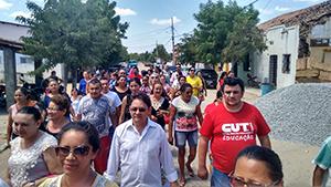 Sindicato APEOC realiza ato em defesa do precatório FUNDEF em Caridade
