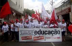 Todos contra o Golpe: Educadores se mobilizam no Dia Nacional de Greve no Ceará
