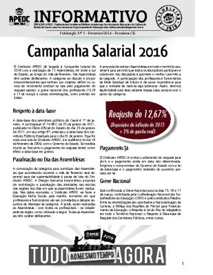 Informativon nº5 Fevereiro 2016
