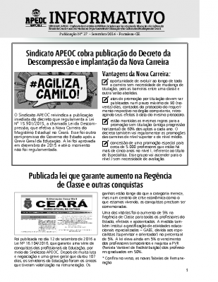 Informativo 27 – setembro – 2016