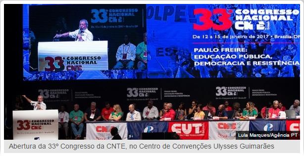 CUT parabeniza nova direção executiva da CNTE