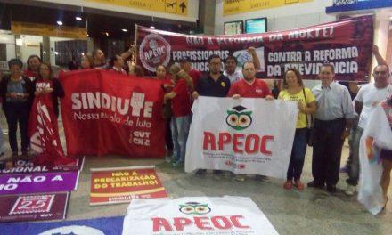 """""""Quem é de Luta, Madruga"""" reúne lideranças sindicais contra Reformas Trabalhista e da Previdência"""