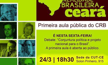 Curso Realidade Brasileira promove aula inaugural aberta ao público