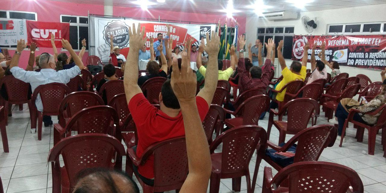Direção Estadual aprova resolução para Greve Geral do dia 28/04
