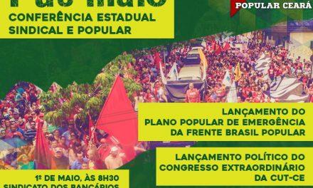 1º de Maio: Inscrições para Conferência Estadual Sindical e Popular terminam nesta terça (25)