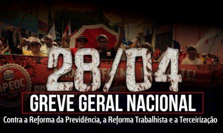 28 de Abril: Greve Geral contra as Reformas Malditas