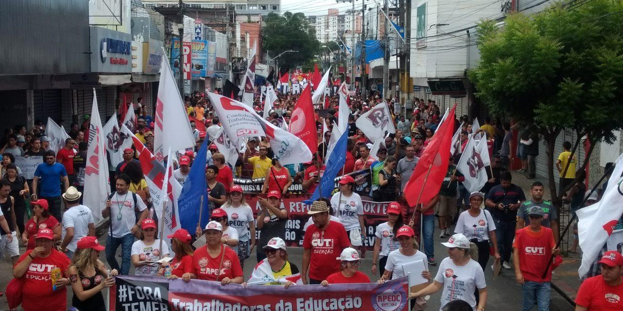 Greve Geral: Trabalhadores da Educação de todo o Ceará dizem NÃO às reformas malditas