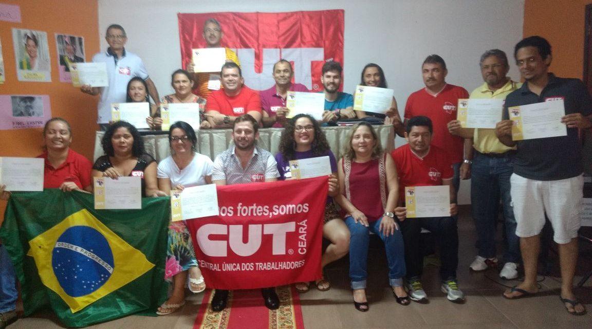 Sindicato APEOC participa dos Cursos de Política e Gestão Sindical e ORSB da CUT
