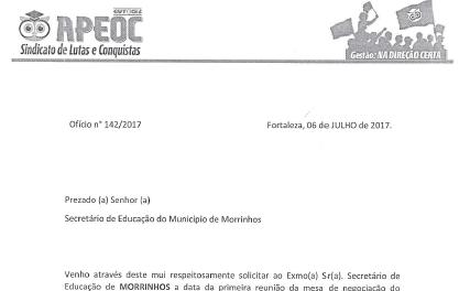Morrinhos: Comissão Municipal protocola ofício cobrando rateio do Fundeb 2016