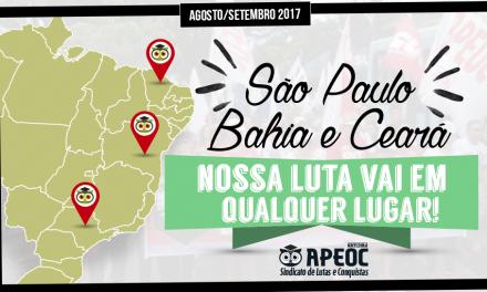 Caravana da Educação do Sindicato APEOC avança por três estados esta semana