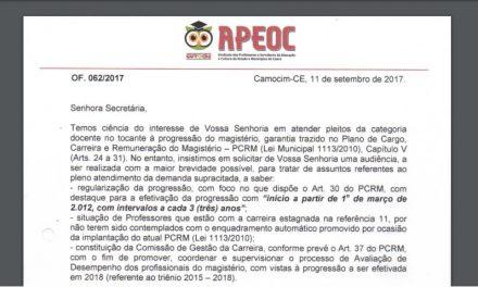 Camocim: Comissão Municipal protocola ofício cobrando audiência com secretária de Educação