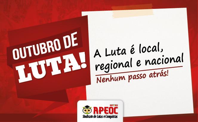 Outubro de Luta: veja a programação de atividades do Sindicato APEOC