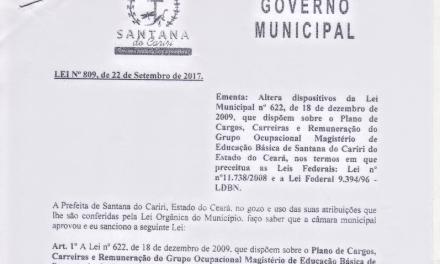 Santana do Cariri: Docentes conquistam 1/3 da carga horária para atividades extraclasse