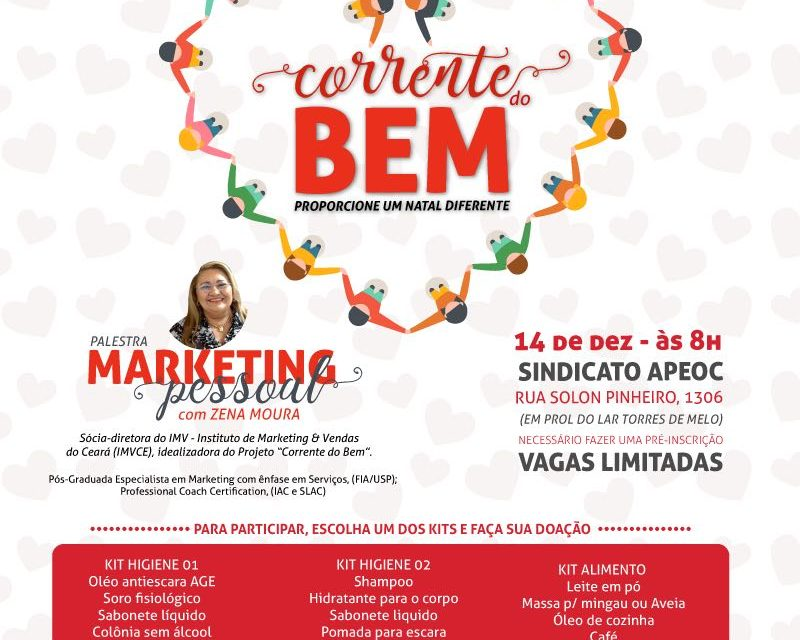 Sindicato APEOC e IMVCE promovem palestra sobre Marketing Pessoal