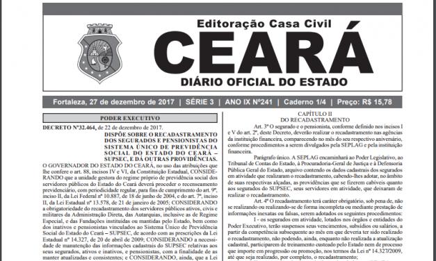 Recadastramento dos servidores do Estado será feito nas agências do Bradesco