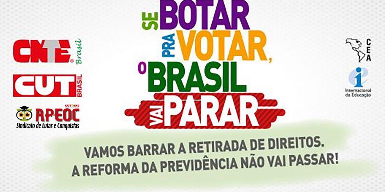 19/02: Dia Nacional de Mobilização contra a Reforma da Previdência