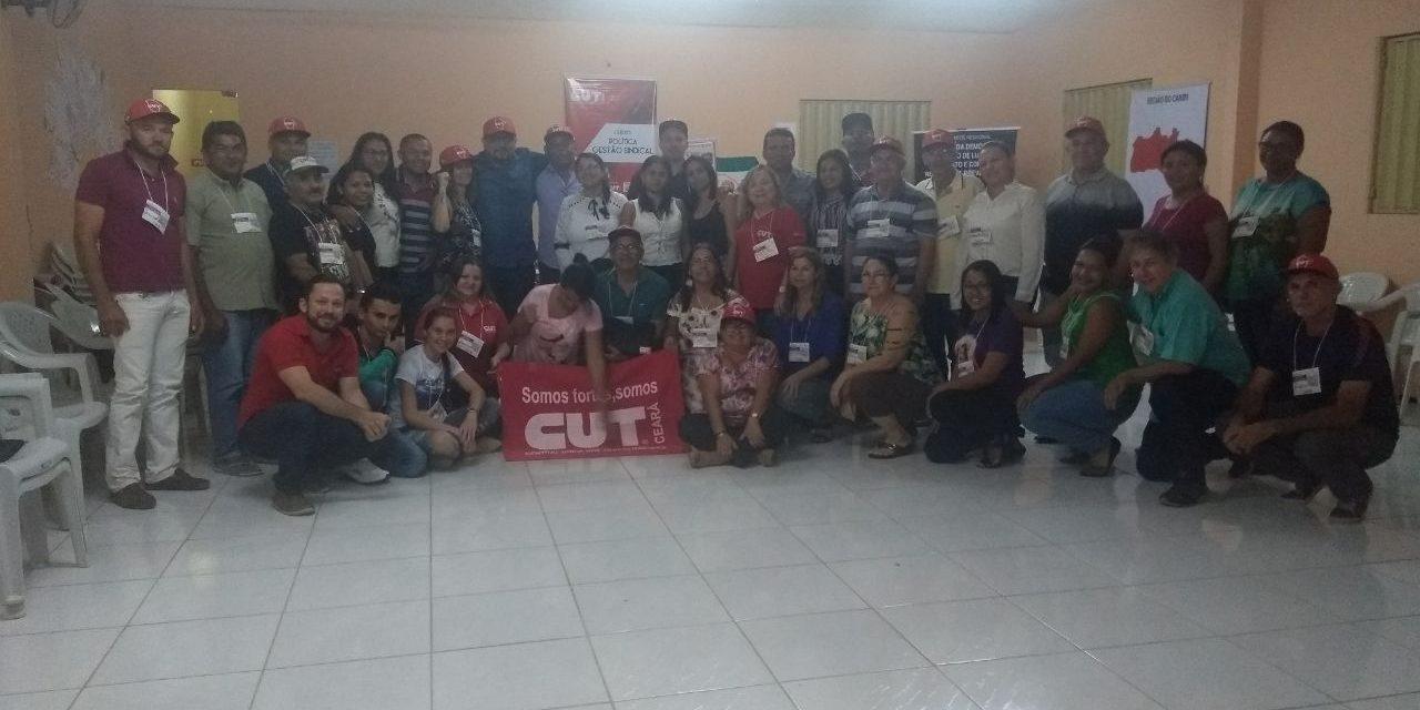 Sindicato APEOC participa de Curso sobre Gestão Sindical no Cariri