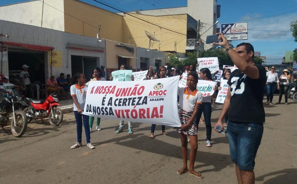 Araripe: Categoria vai às ruas e cobra 60% do precatório do Fundef
