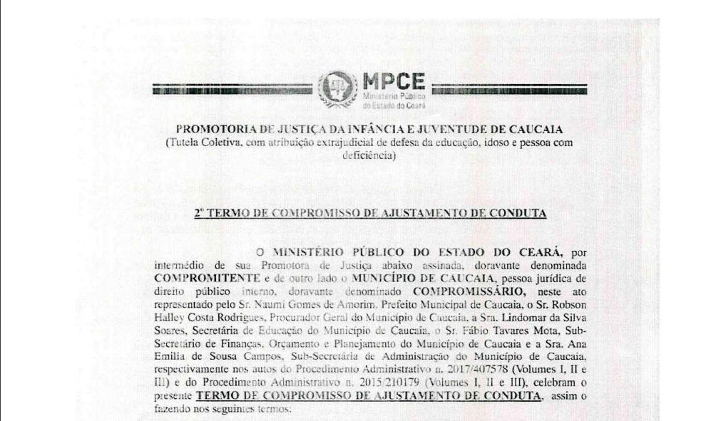 Caucaia: TAC garante nova convocação de professores do cadastro de reserva