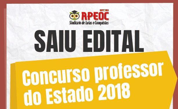 SAIU O EDITAL: Concurso para Professor do Estado terá 2.500 vagas