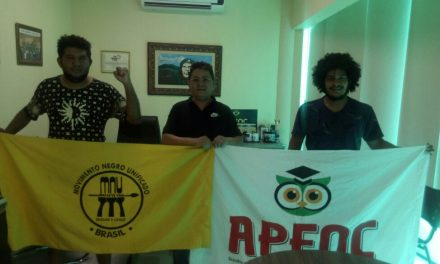 Sindicato APEOC recebe integrantes do MNU – Movimento Negro Unificado