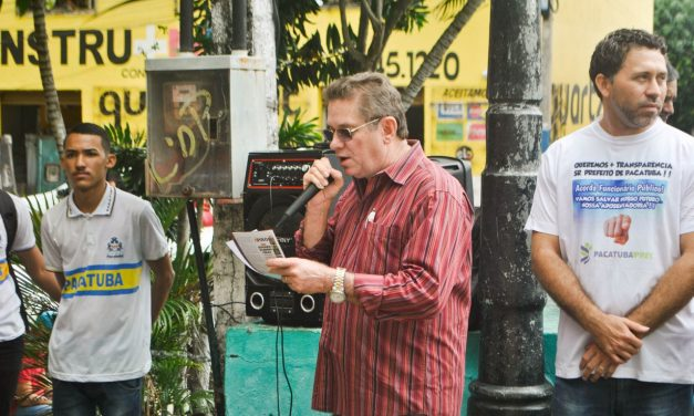 Pacatuba: APEOC e Professores participam de mobilização em adesão ao dia do basta