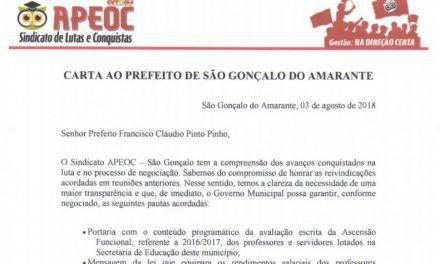 São Gonçalo: Comissão Municipal entrega carta ao Prefeito