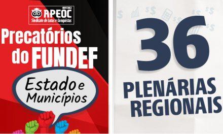 Sindicato APEOC realizará 36 Plenárias em todo o Ceará sobre os Precatórios do FUNDEF