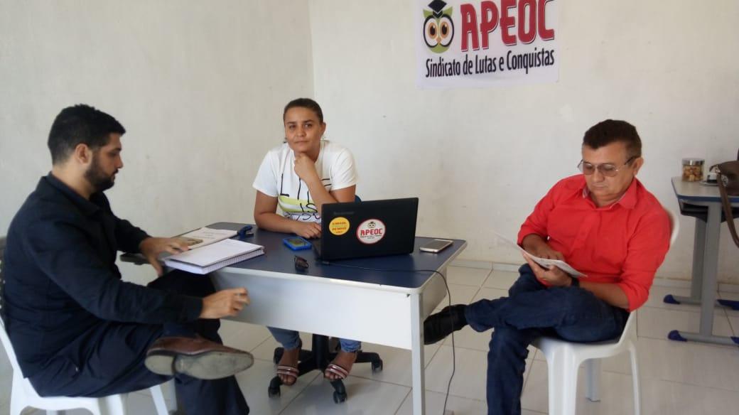 Baixio: Sindicato APEOC discute Regência de Classe, Licença-prêmio e Auxílio Deslocamento