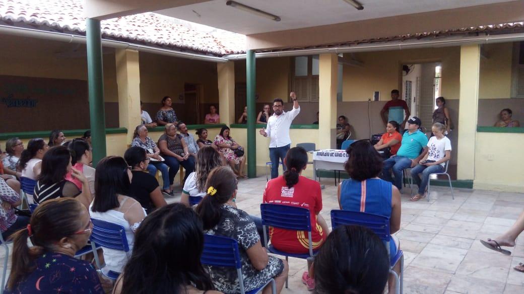BAIXIO: Sindicato APEOC realiza plenária sobre Precatórios e Financiamento da Educação