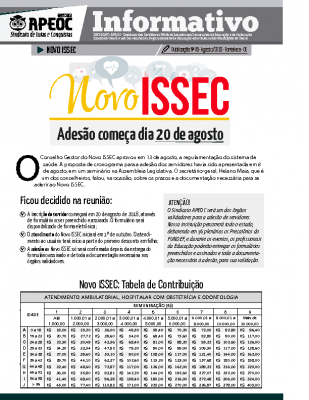 Informativo – Novo ISSEC – Agosto