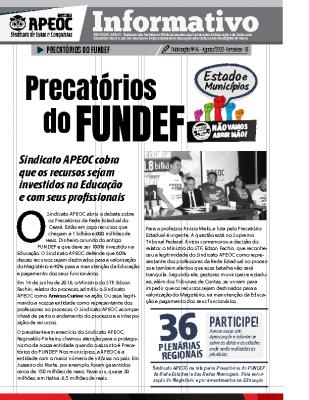 Informativo – Precatórios do Fundef – Agosto