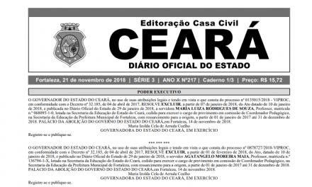 Governo do Ceará regulamenta seleção pública para composição do banco de gestores escolares para Escola Família Agrícola