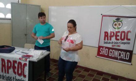 São Gonçalo do Amarante: Sindicato APEOC define pontos para Campanha Salarial 2019