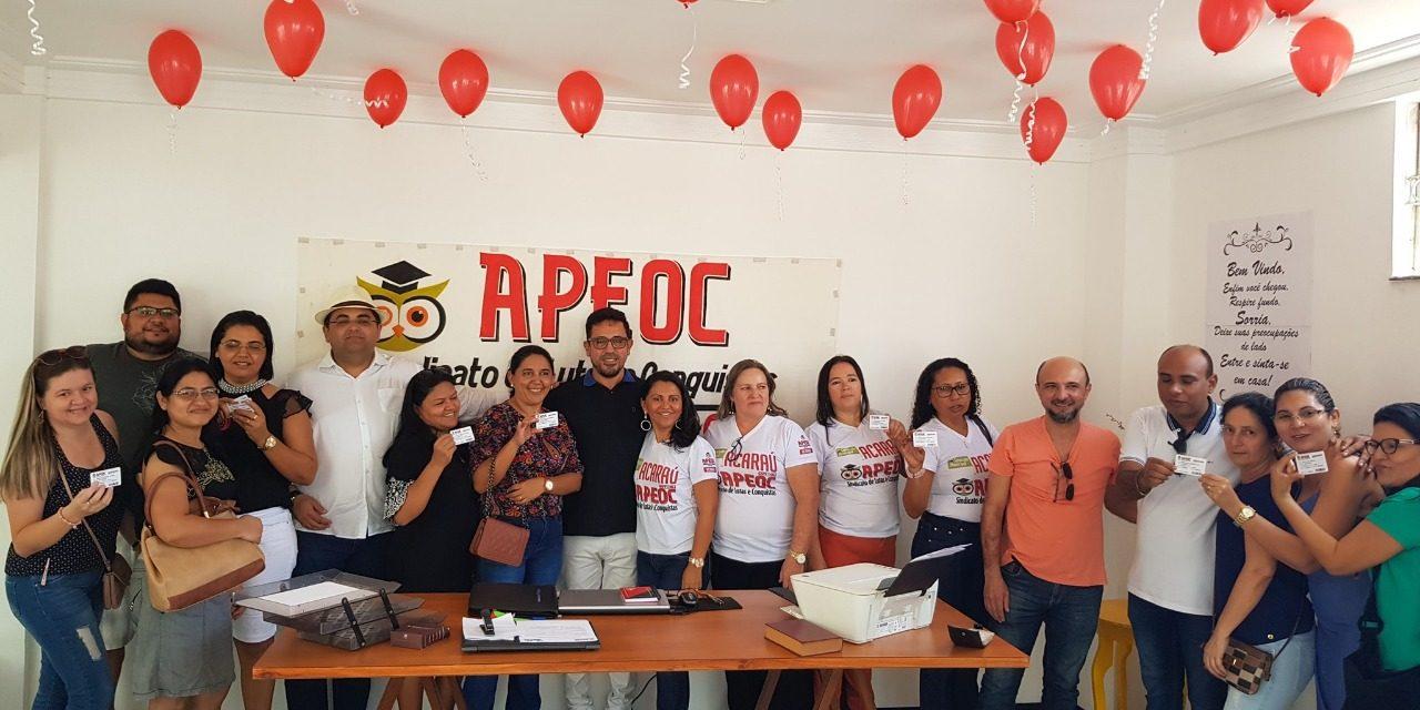 Acaraú: Sindicato APEOC inaugura sede da Comissão Municipal e faz atendimento jurídico
