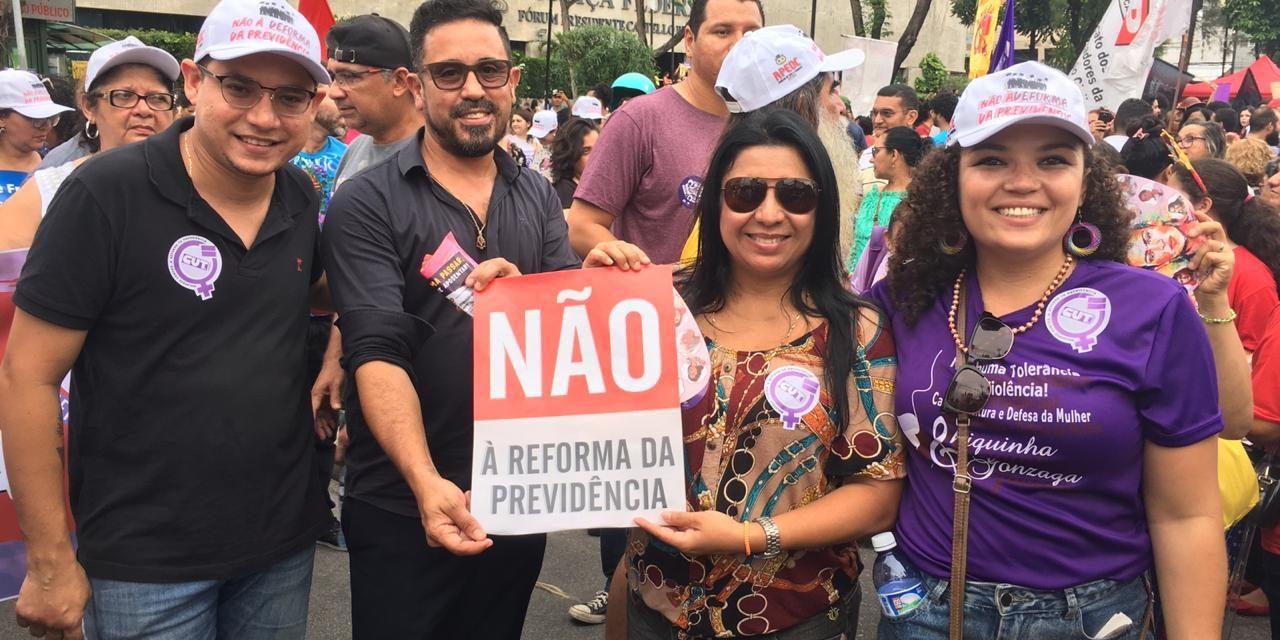A luta é na Rua! Entidades Sindicais e movimentos populares protestam no Dia Internacional das Mulheres