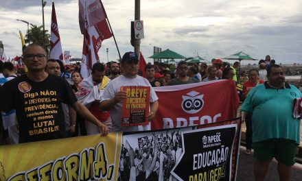 APEOC vai às ruas em ato unificado pelos direitos trabalhistas e contra a DEFORMA da Previdência