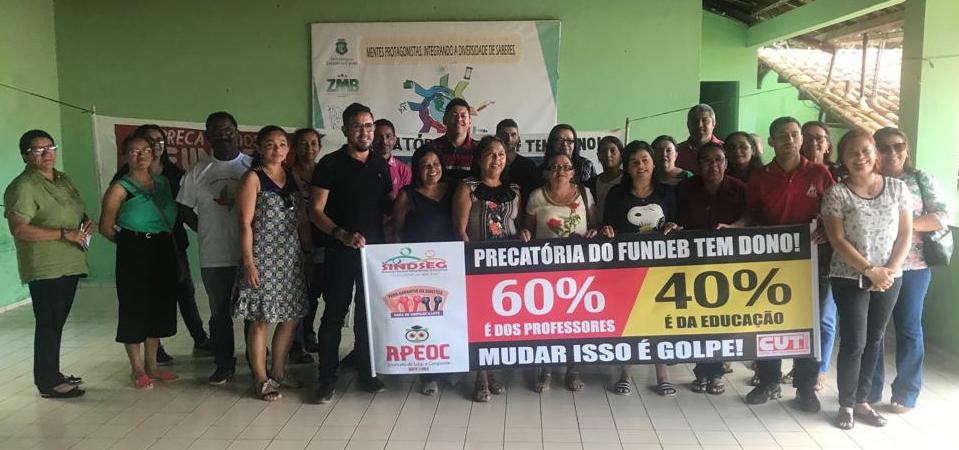 APEOC e Sindicato dos Servidores de Guaramiranga unidos pelo Financiamento da Educação