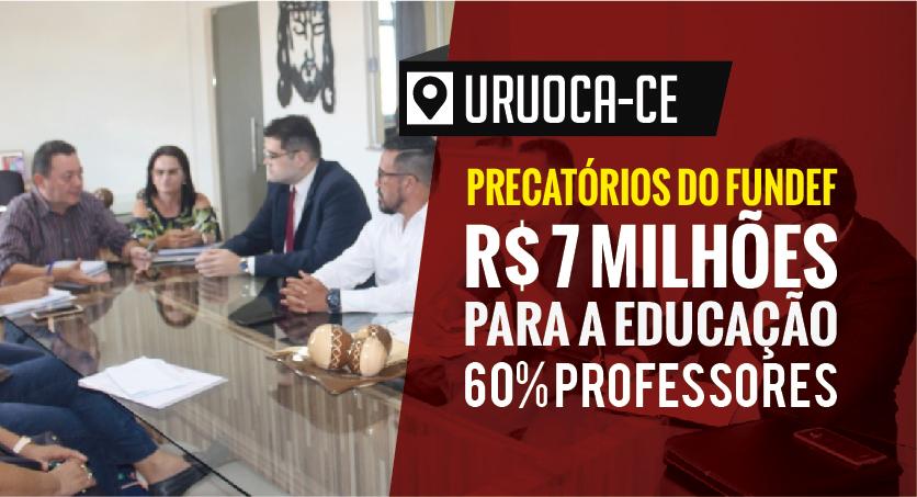 Uruoca: Remando contra a maré, APEOC e prefeito Francisco Kilsem garantem 60% do Precatório do FUNDEF para o Magistério