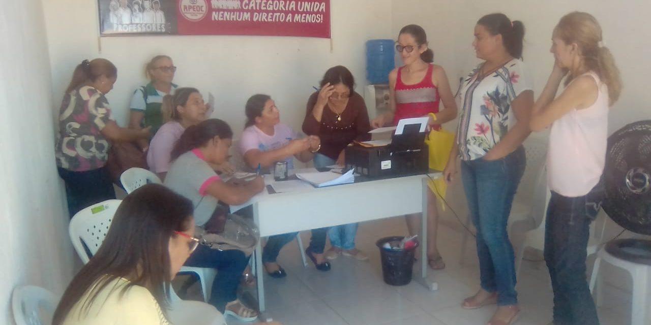 Baixio: APEOC realiza mutirão de contratos do novo Precatório do FUNDEF