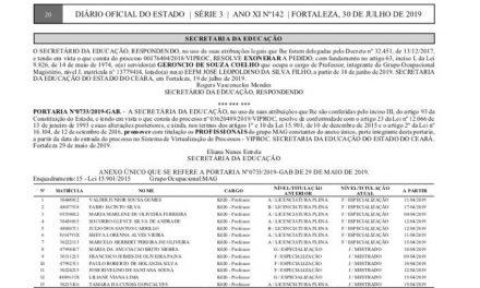PROMOÇÃO POR TITULAÇÃO: DIÁRIO OFICIAL PUBLICA 36 NOVOS ATOS