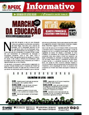 JULHO – MARCHA DA EDUCAÇÃO