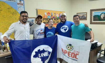 REUNIÃO APEOC, UNE E UNEFORT PARA FORTALECER A UNIDADE PELO NOVO FUNDEB E CONTRA O FUTURE-SE