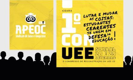 APEOC E UNE JUNTAS NO 1º CONGRESSO DA UNIÃO ESTADUAL DOS ESTUDANTES EM SOBRAL