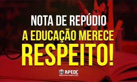 NOTA DE REPÚDIO: OS PROFESSORES DA EDUCAÇÃO INFANTIL DE FORTALEZA MERECEM RESPEITO
