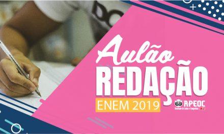 ENEM 2019: APEOC REALIZARÁ AULÕES ESPECIAIS DE REDAÇÃO EM ESCOLAS ESTADUAIS