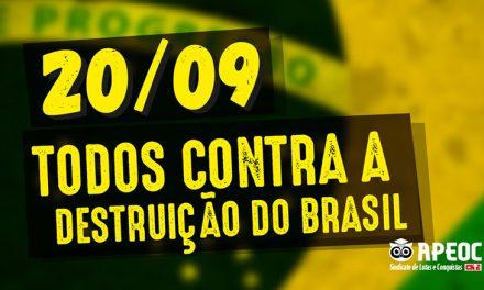 20/09: É DIA DE DEFENDER A NAÇÃO E A EDUCAÇÃO