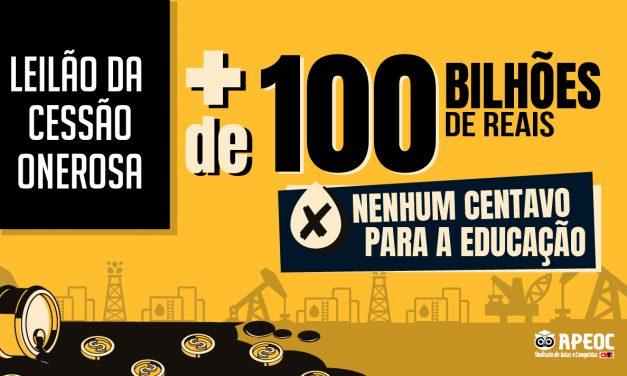 MEGA LEILÃO DO PRÉ-SAL: MAIS DE 100 BILHÕES DE REAIS, NENHUM CENTAVO PARA A EDUCAÇÃO