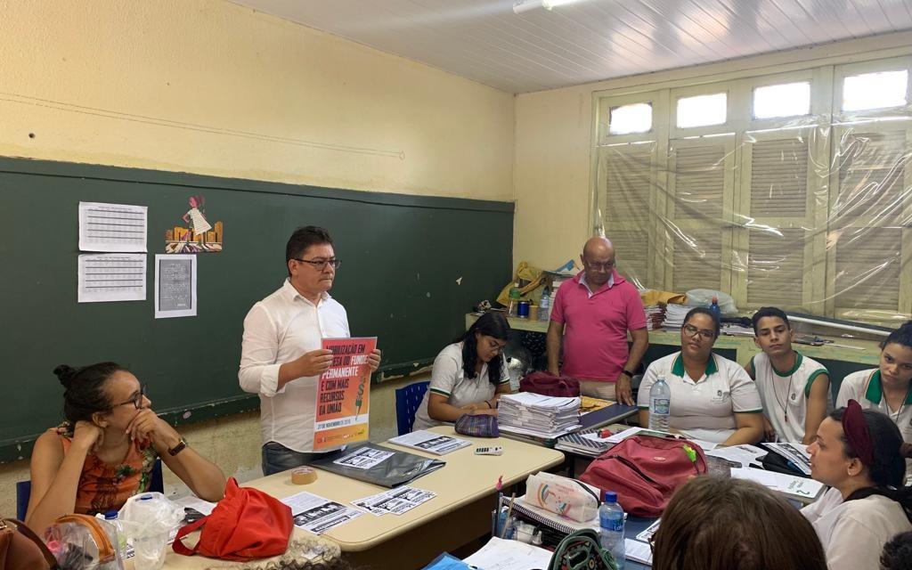 APEOC VISITA ESCOLAS E DISCUTE FINANCIAMENTO, BICICLETADA E INFORMES GERAIS
