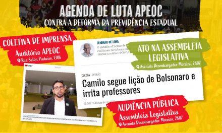AGENDA DE LUTAS APEOC: CONTRA A DEFORMA DA PREVIDÊNCIA ESTADUAL